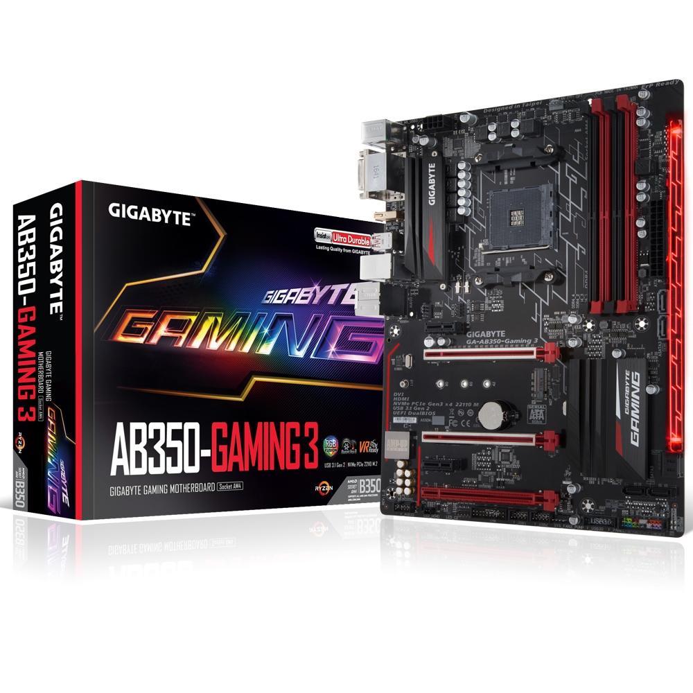 Placa Mãe AMD Am4 Gigabyte AB350 Gaming 3