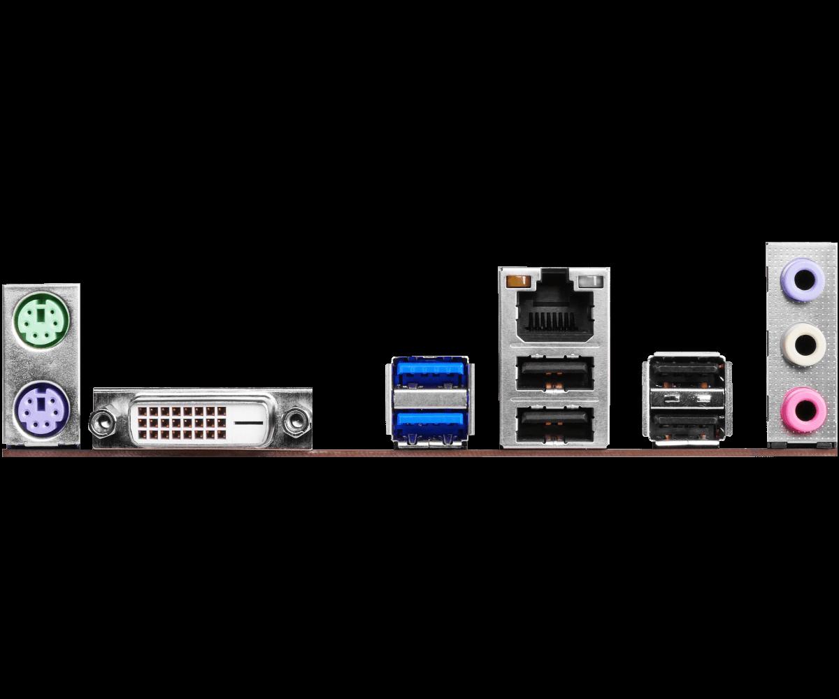 PLACA MÃE INTEL 1151 ASROCK H110M-DGS R3.0 DDR3 VGA / HDMI / DVI-D ULTRA DURABLE