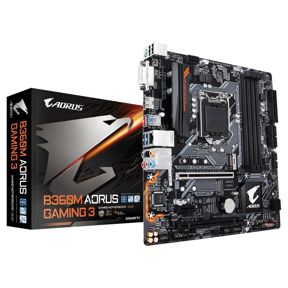 Placa Mãe Intel 1151 Gigabyte B360M Aorus Gaming 3 Ddr4 DVI/HDMI