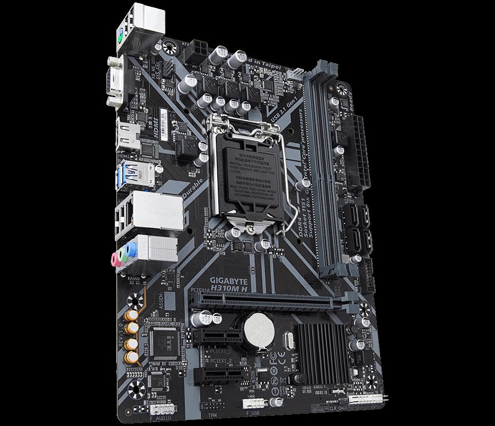 Placa Mãe Intel 1151 Gigabyte h310m Ddr4 Hdmi / Vga