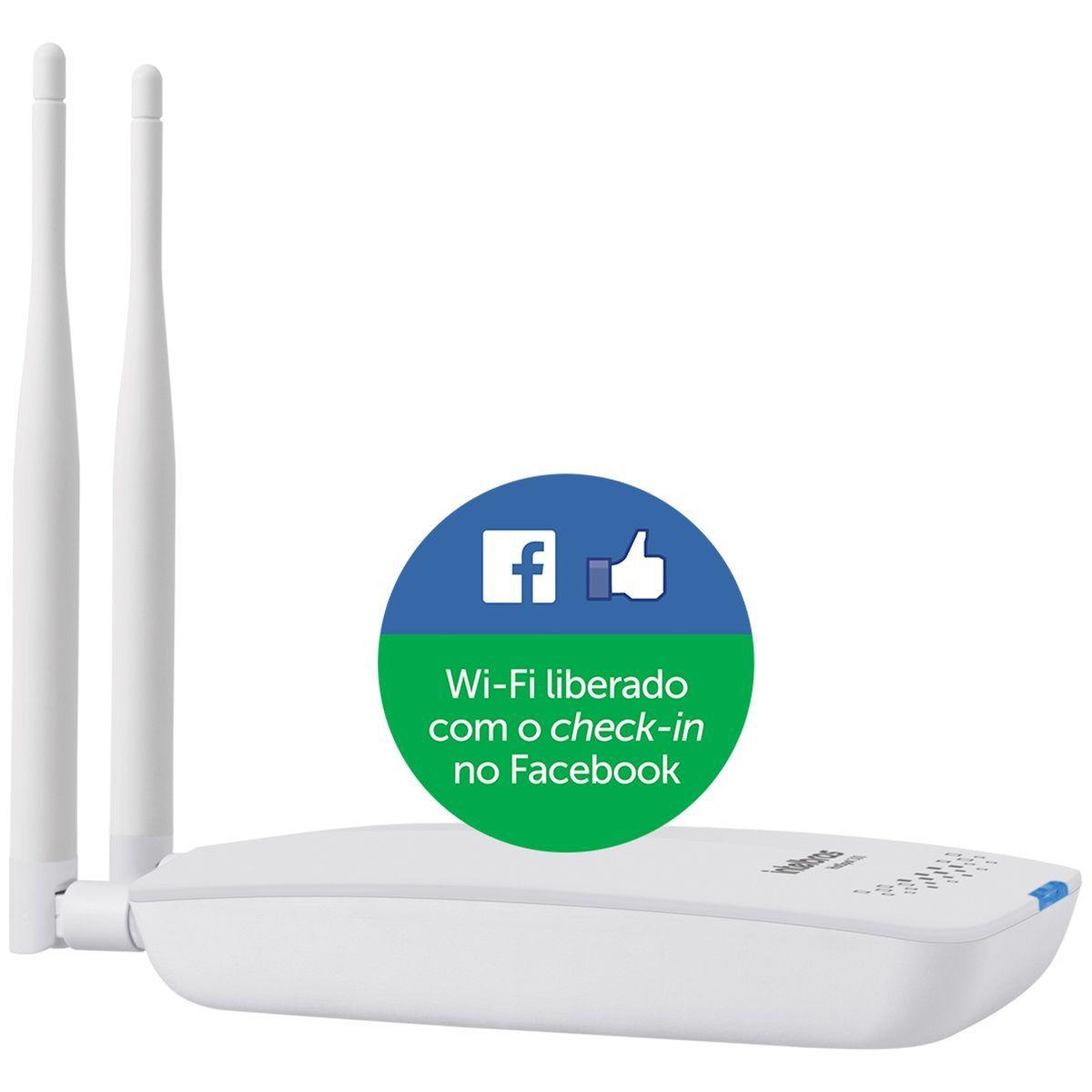 Roteador Wireless c/ Check-in no Facebook Intelbras Hotspot 300