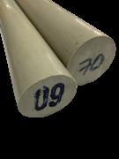 Tarugo Polipropileno Cinza 160mm x 1000mm