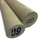 Tarugo Polipropileno Cinza 230mm x 1000mm