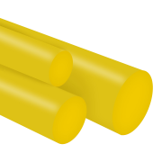 Tarugo Poliuretano Amarelo 60SH A 10x300mm