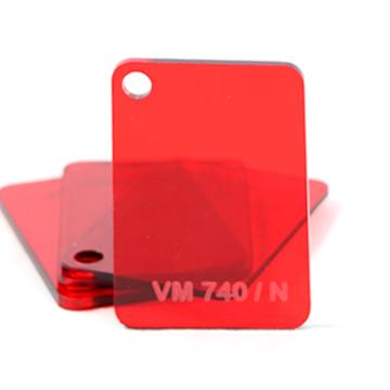 Chapa Acrilico Cast Vermelho Trans 2mmx1000mmx2000mm
