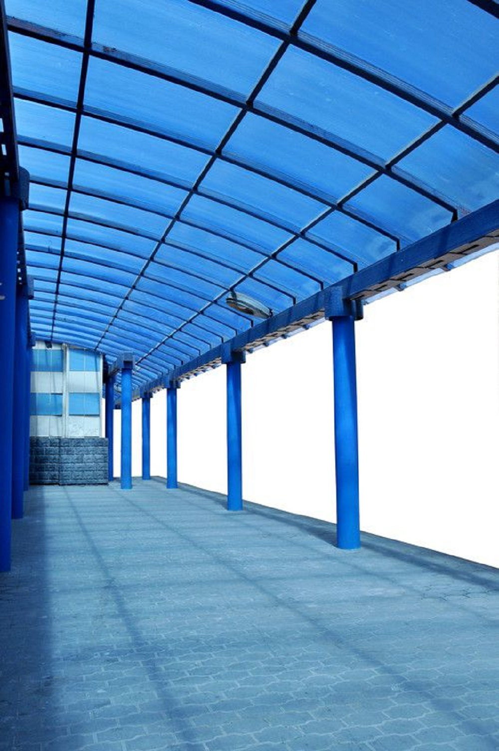 Chapa de Policarbonato Alveolar Azul 10mmx2100mmx6000mm