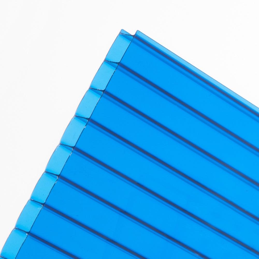 Chapa de Policarbonato Alveolar Azul 4mmx1050mmx6000mm