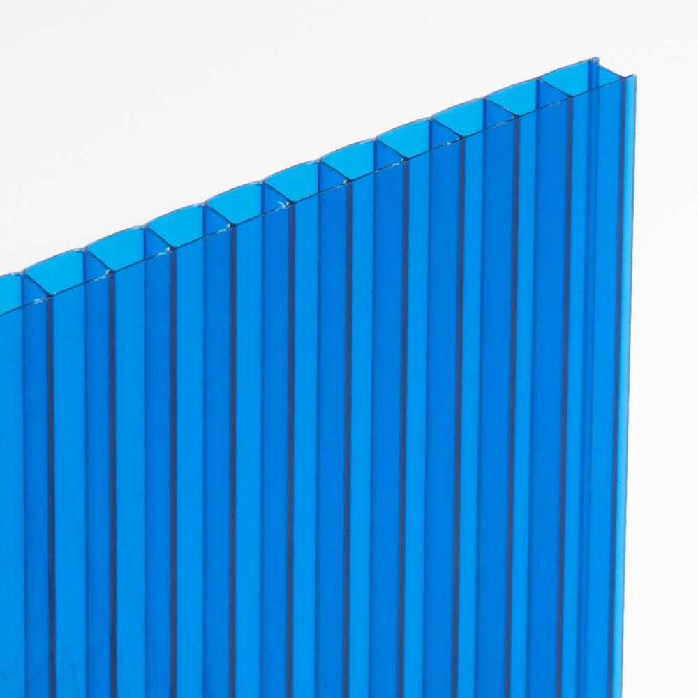 Chapa de Policarbonato Alveolar Azul 4mmx2100mmx6000mm