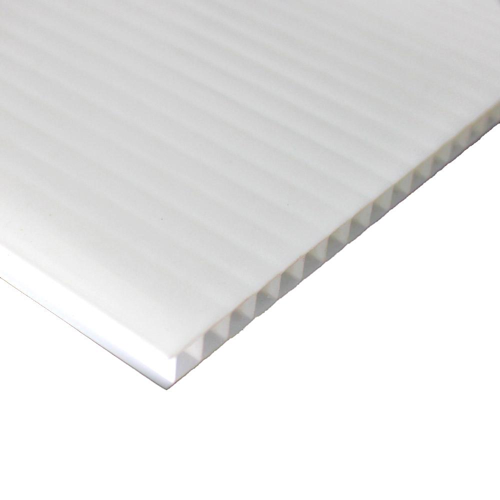 Chapa de Policarbonato Alveolar Branco 4mmx2100mmx6000mm