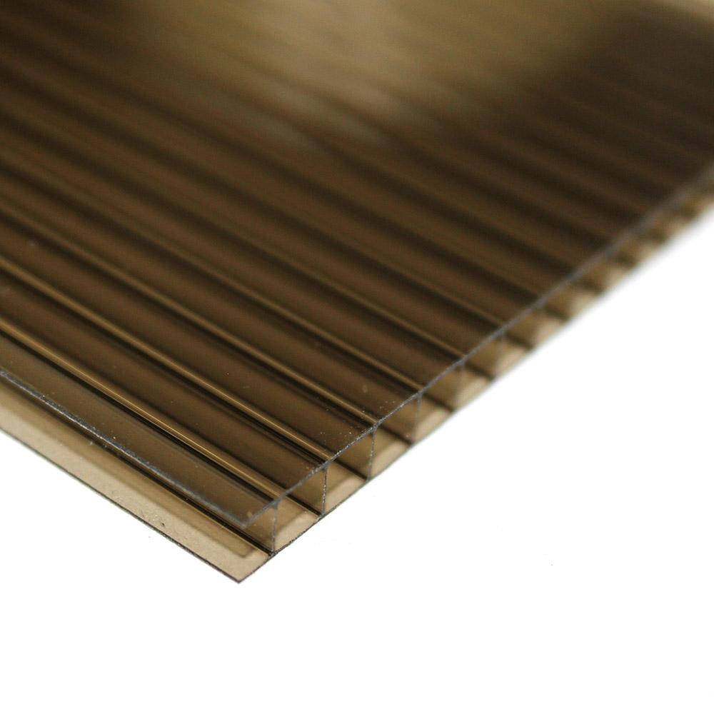 Chapa de Policarbonato Alveolar Bronze 4mmx1050mmx6000mm