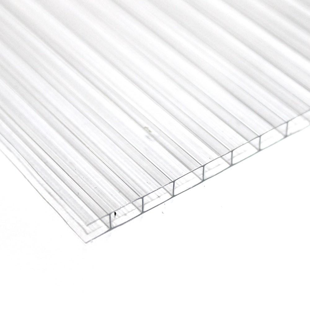 Chapa de Policarbonato Alveolar Cristal 10mmx1050mmx6000mm