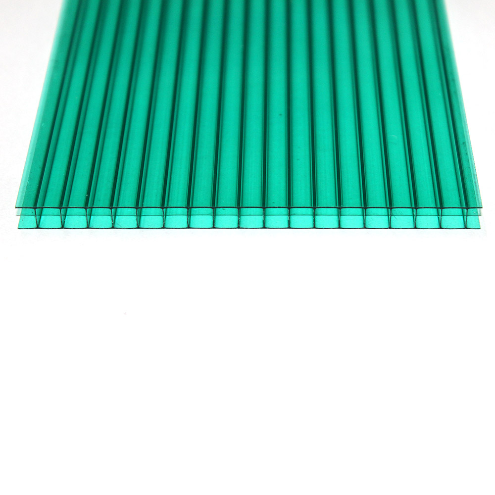 Chapa de Policarbonato Alveolar Verde 4mmx1050mmx6000mm