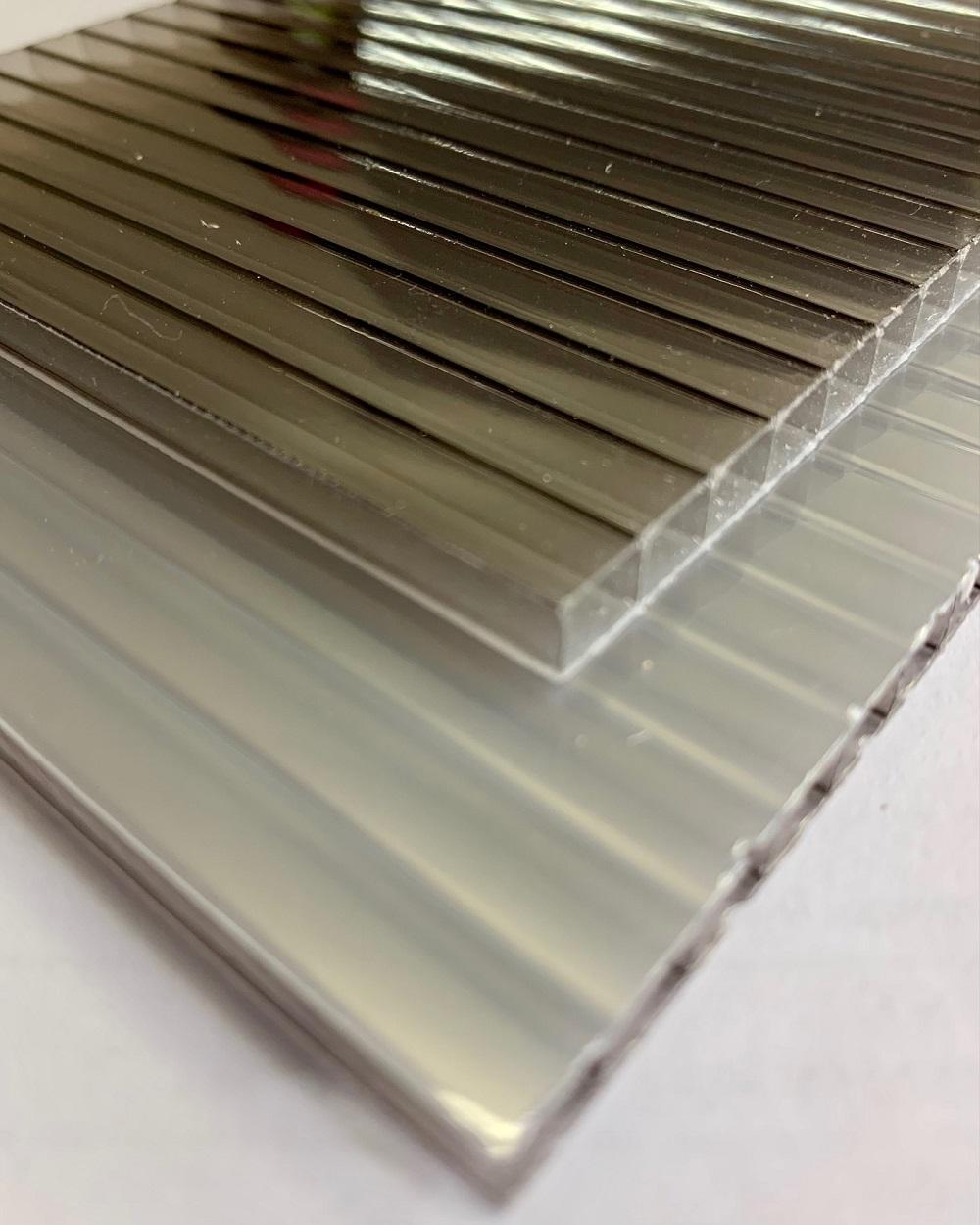 Policarbonato Alveolar Refletiva Bronze 10x1050x6000mm