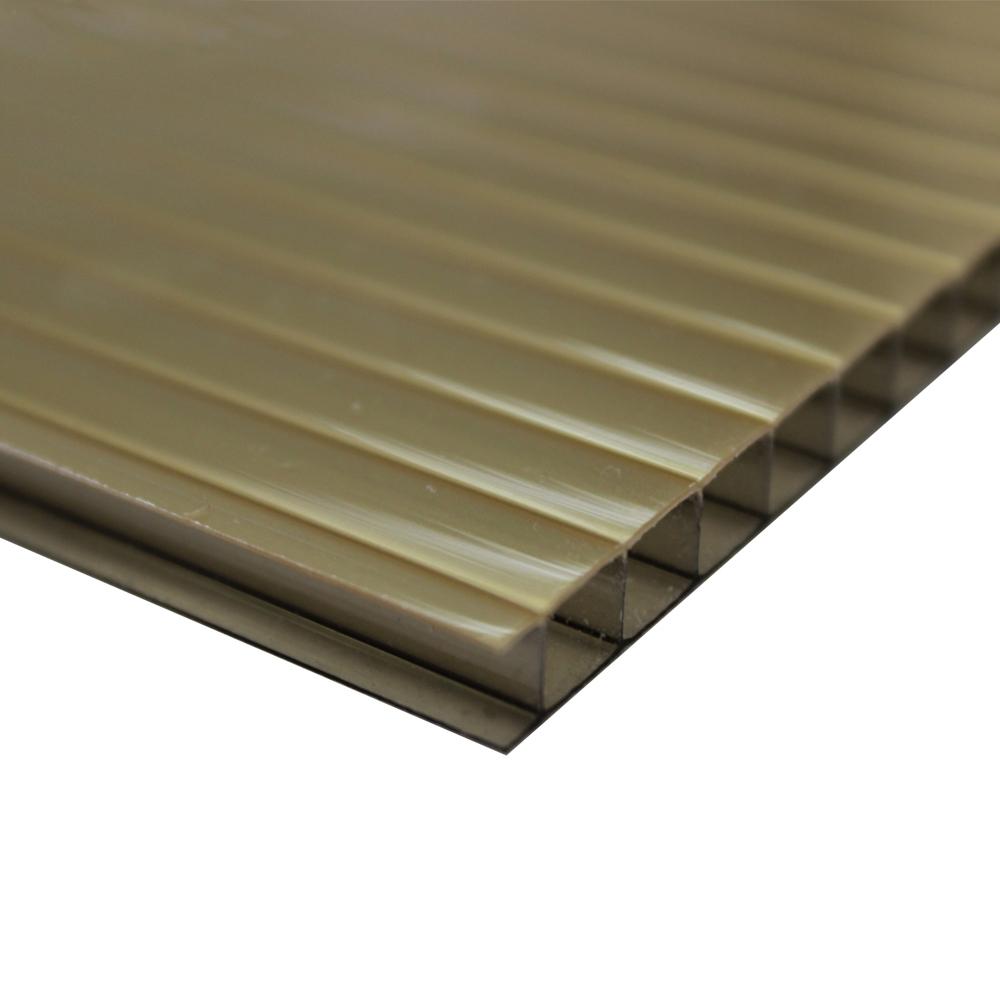 Policarbonato Alveolar Refletiva Ouro Bronze 10x1050x6000mm