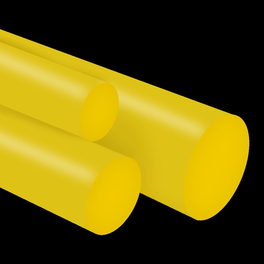 Tarugo Poliuretano Amarelo 70SH A 20X300mm