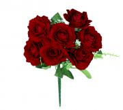 Buquê de rosas Aveludadas - X7 - 30cm
