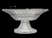Fruteira de Vidro Cristal C/Pé- 17,30cm Altura  X  33,30cm Boca