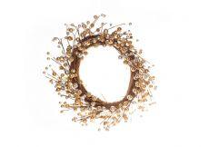 Guirlanda Natalina com enfeites dourados - 40 cm