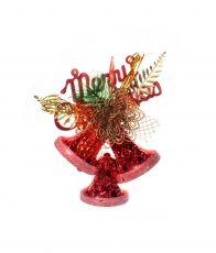 Sino Merry Christmas Vermelho Brilhante  -  1 UN