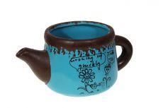 Vaso de cerâmica bule - 8cm