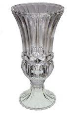 Vaso de vidro C/Pé Grande- 40cm Altura X 18cm Boca