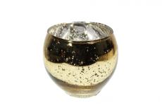 Vaso de Vidro Cor Ouro - 8cm Altura X 8cm Boca