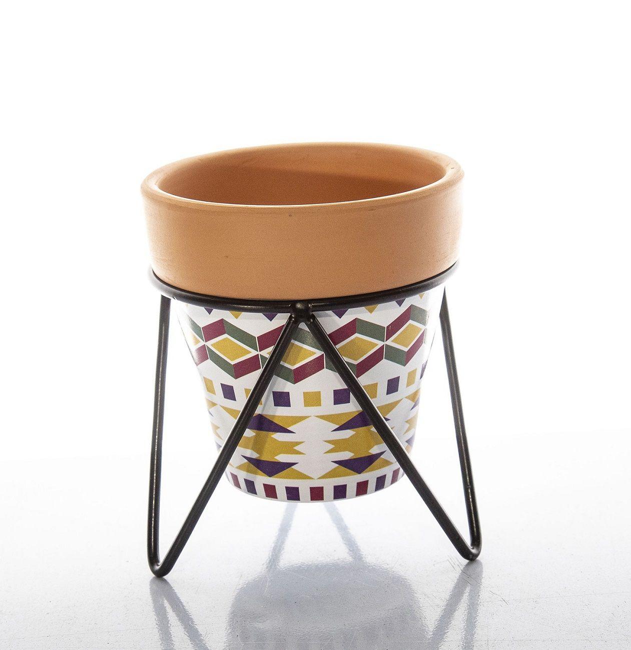 Adorno De Ceramica Vaso Para Ornamentacaref:Vsc-422