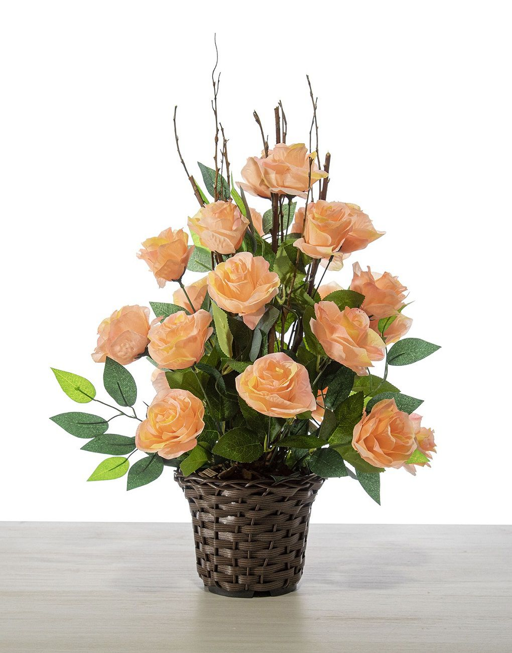 Arranjo De Rosas C/ Ficus  - 60Cm