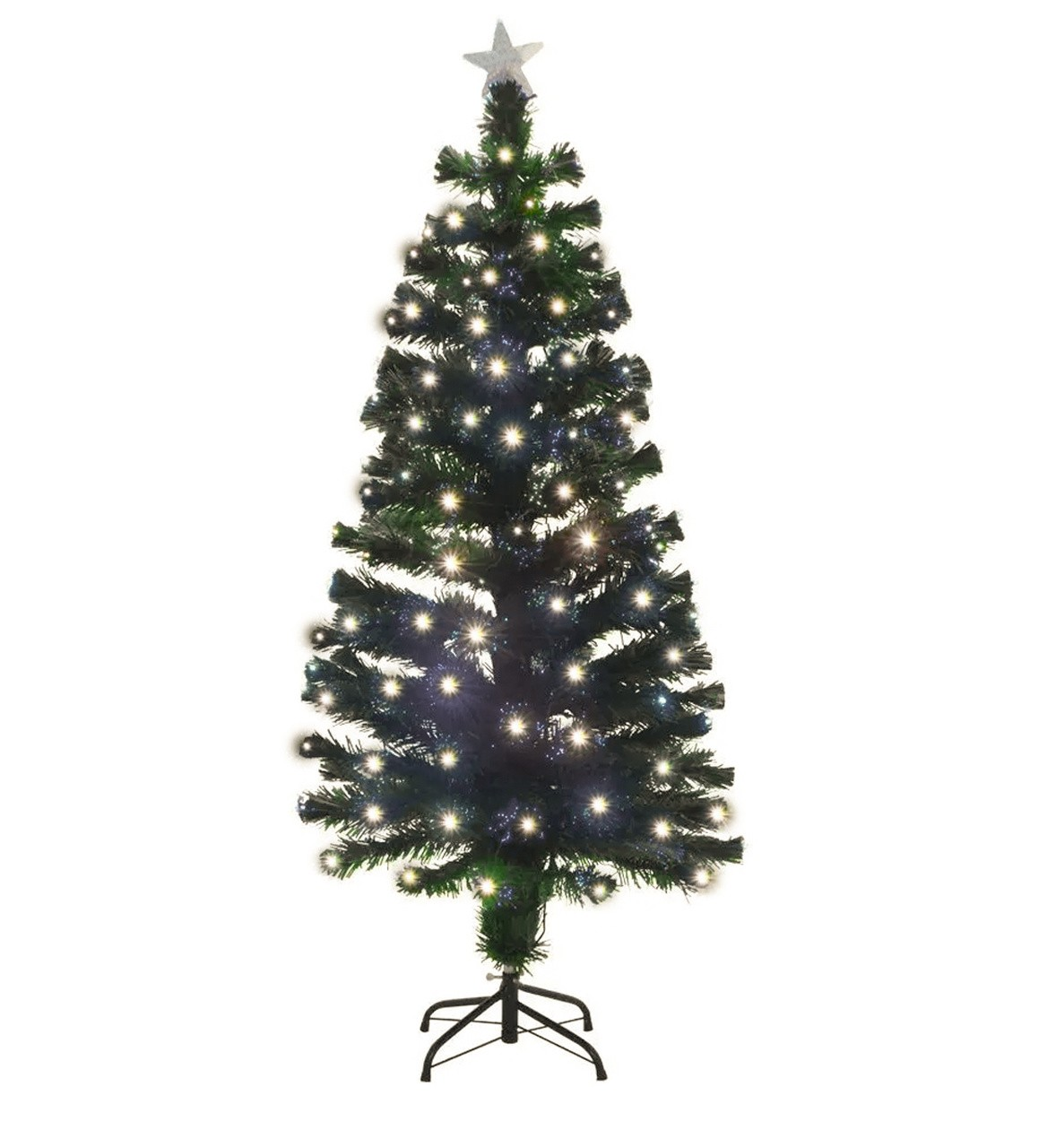Árvore De Natal Com Fibra Ótica - C/125 Galhos  -  1,20 M