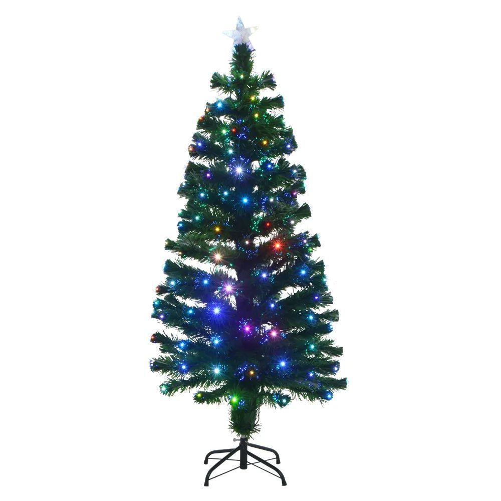 Árvore De Natal Com Fibra Ótica - C/350 Galhos  -  1,80 M