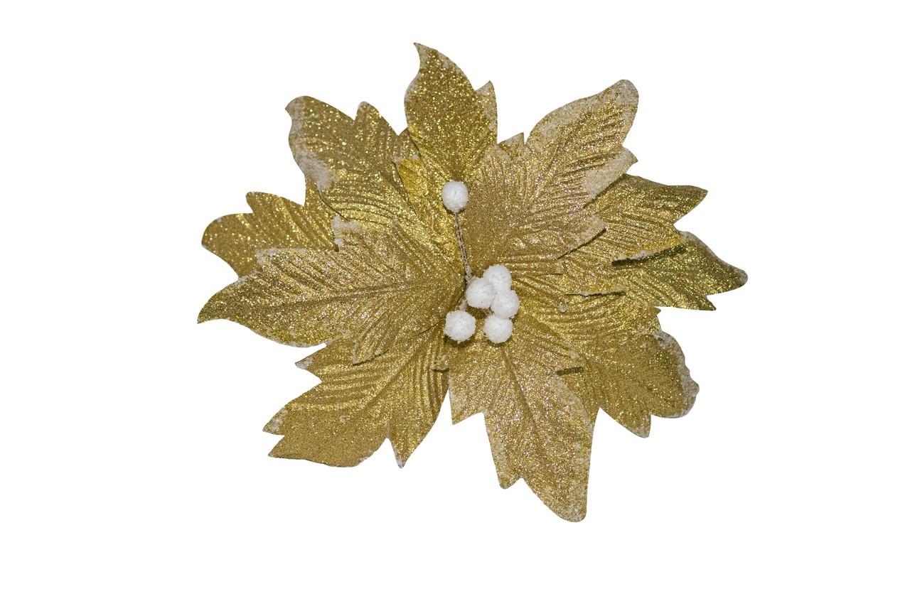 Flor Bico De Papagaio Dourado - 35 Cm De Altura