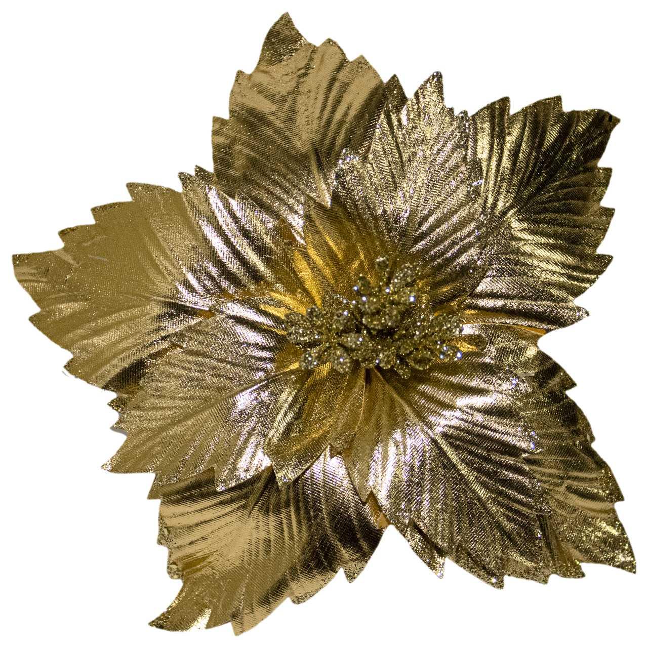 Flor Bico De Papagaio Dourado- 24 Cm