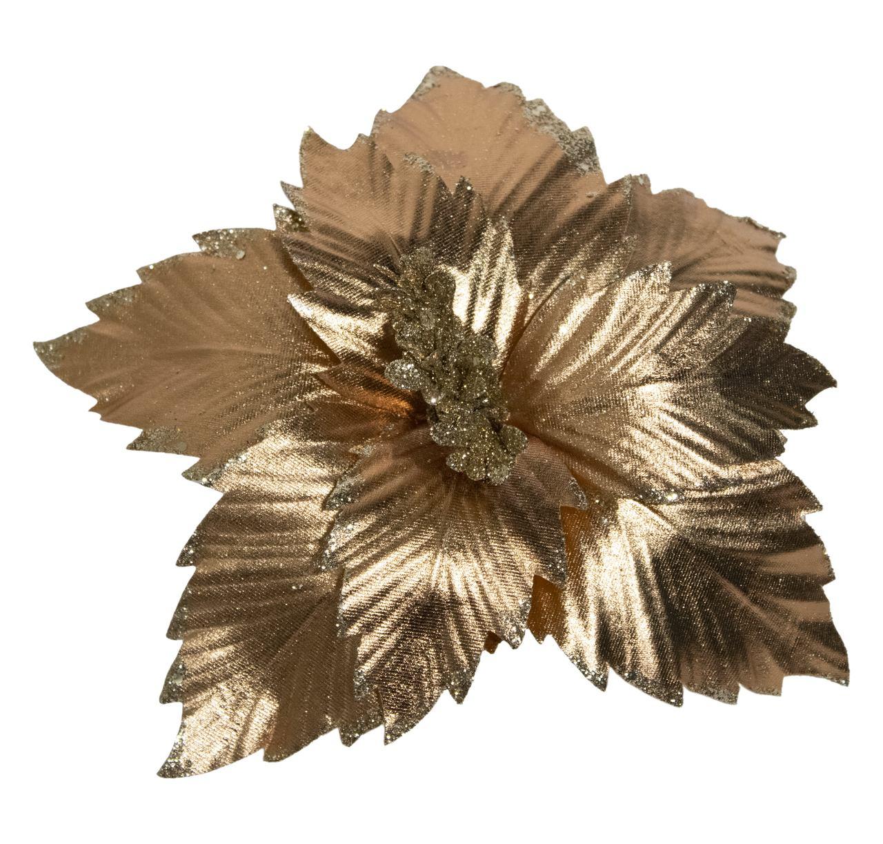 Flor Bico De Papagaio De Bronze - 24 Cm