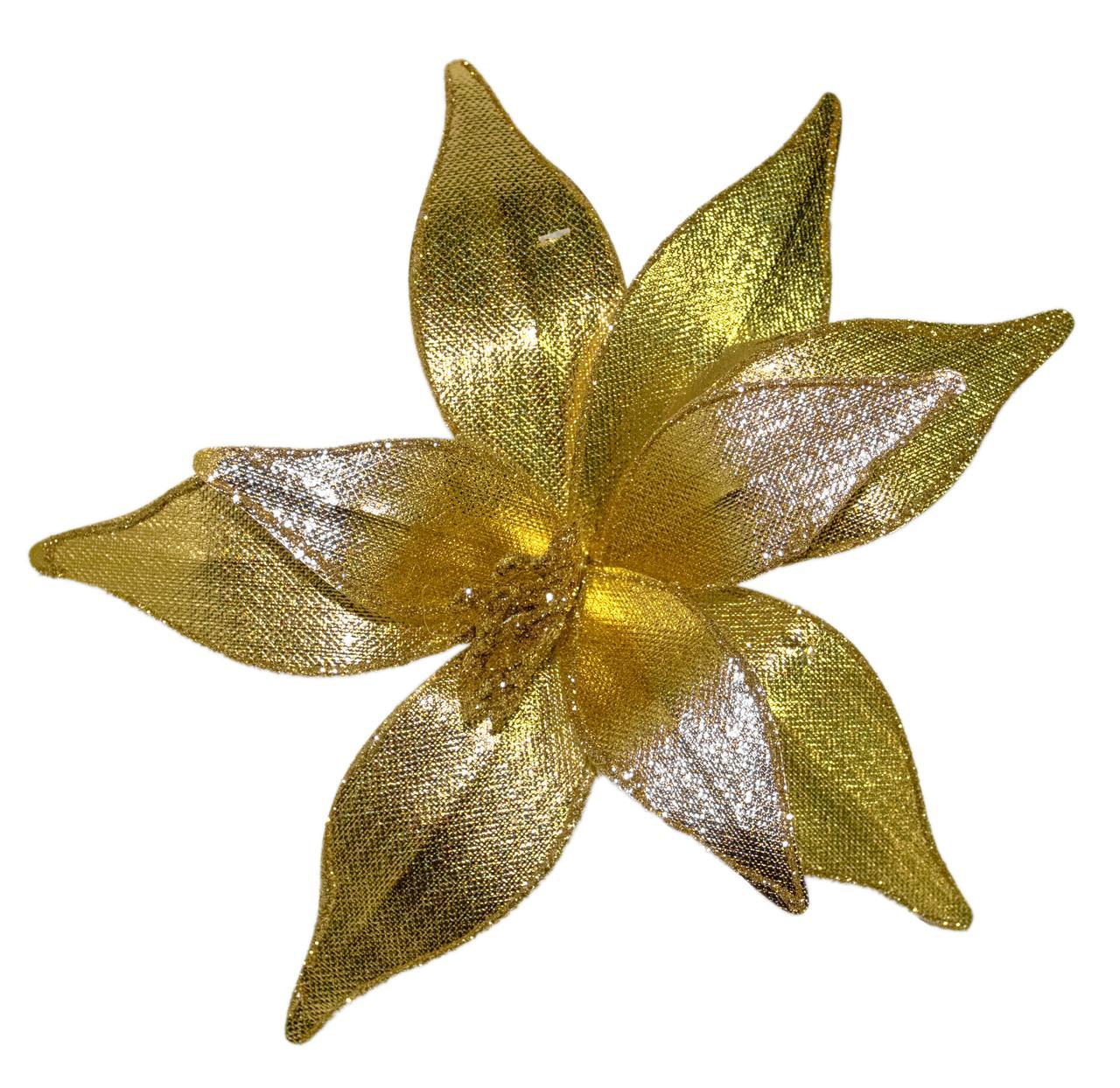 Flor Bico De Papagaio Dourado -  25 Cm