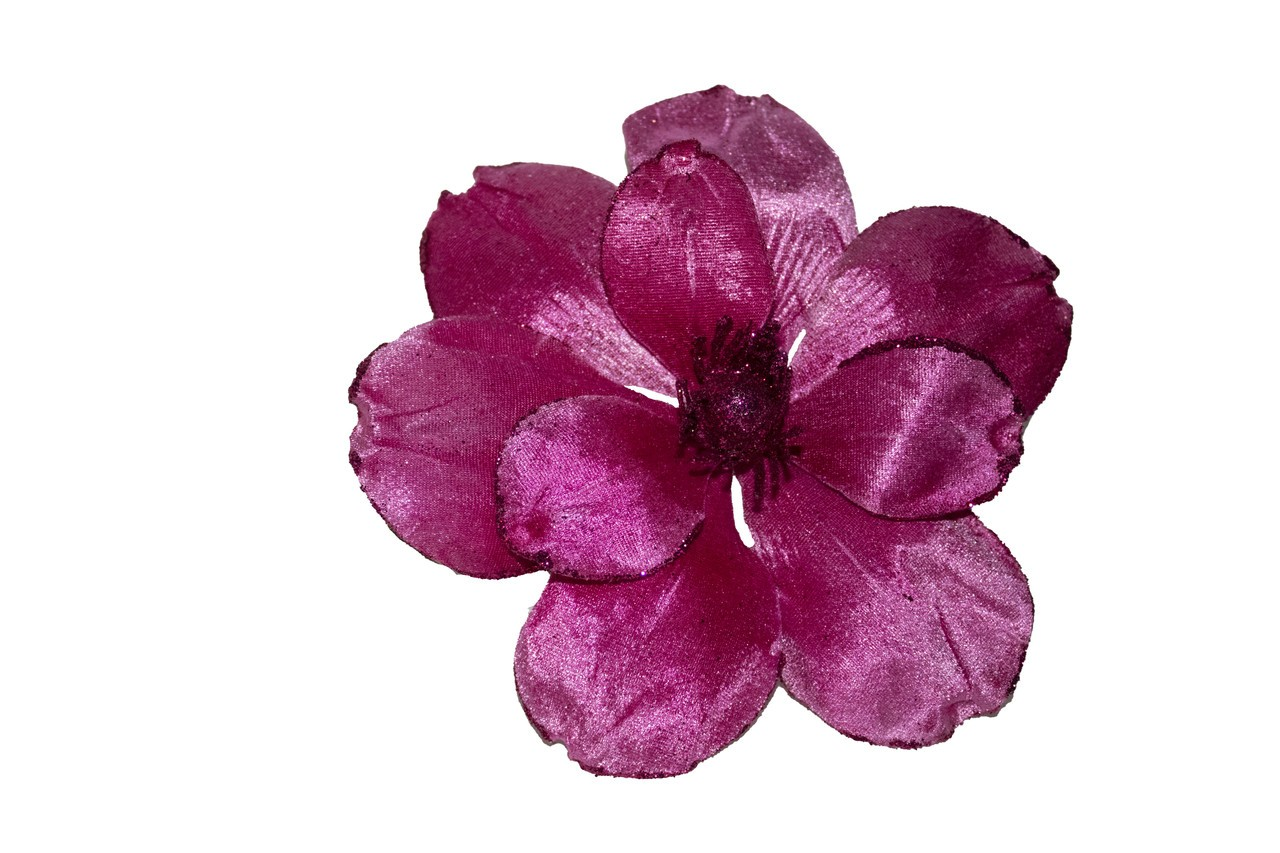 Flor Magnolia Natalina Rosa - 52 Cm De Altura