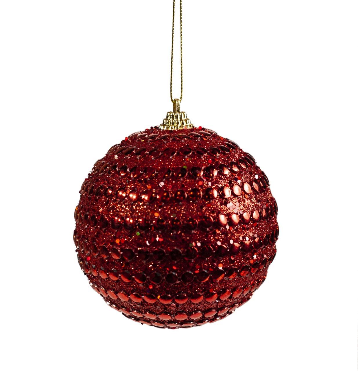 Bola Natalina Vermelha - 1 Un