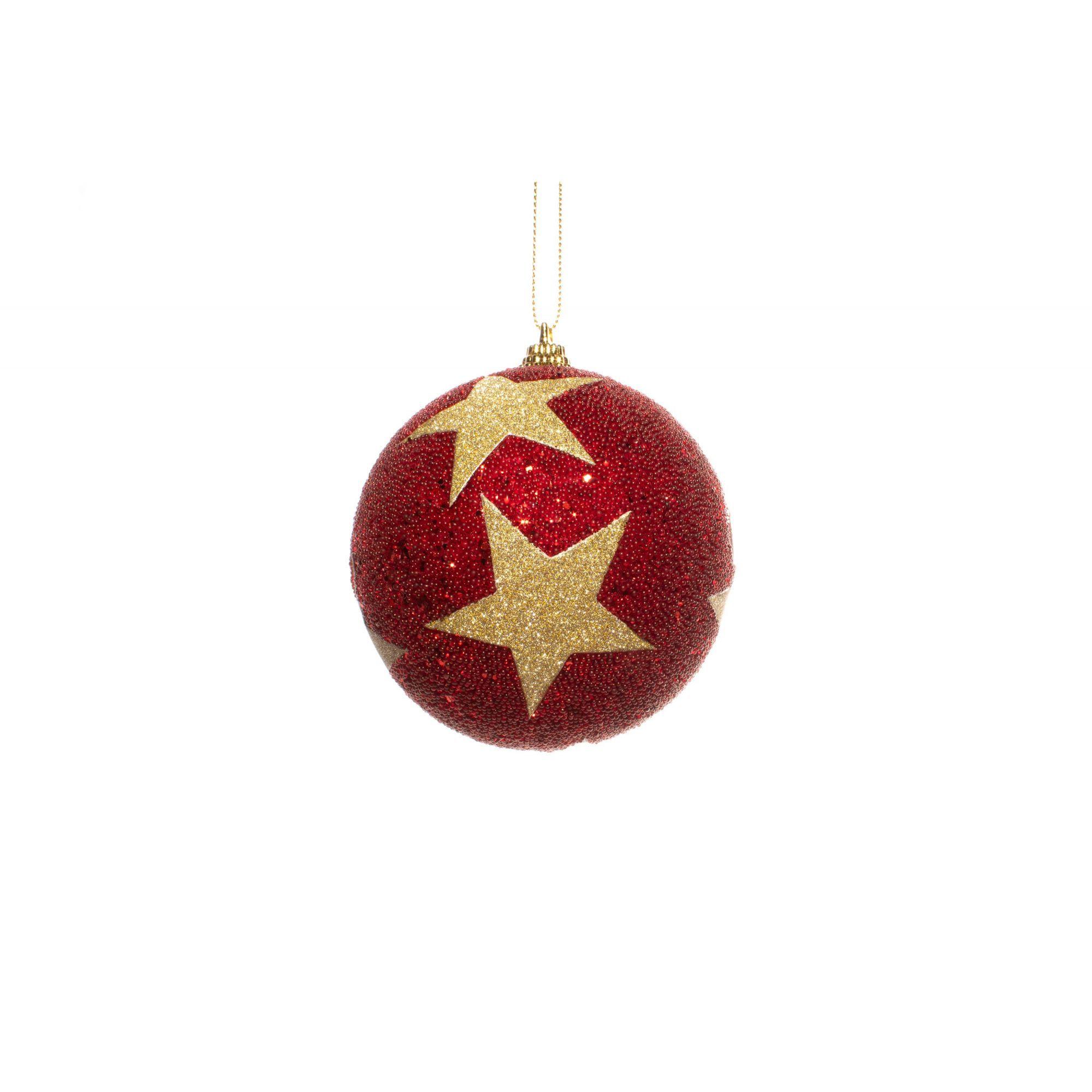 Mini Bola Natalina com Estrela Dourada