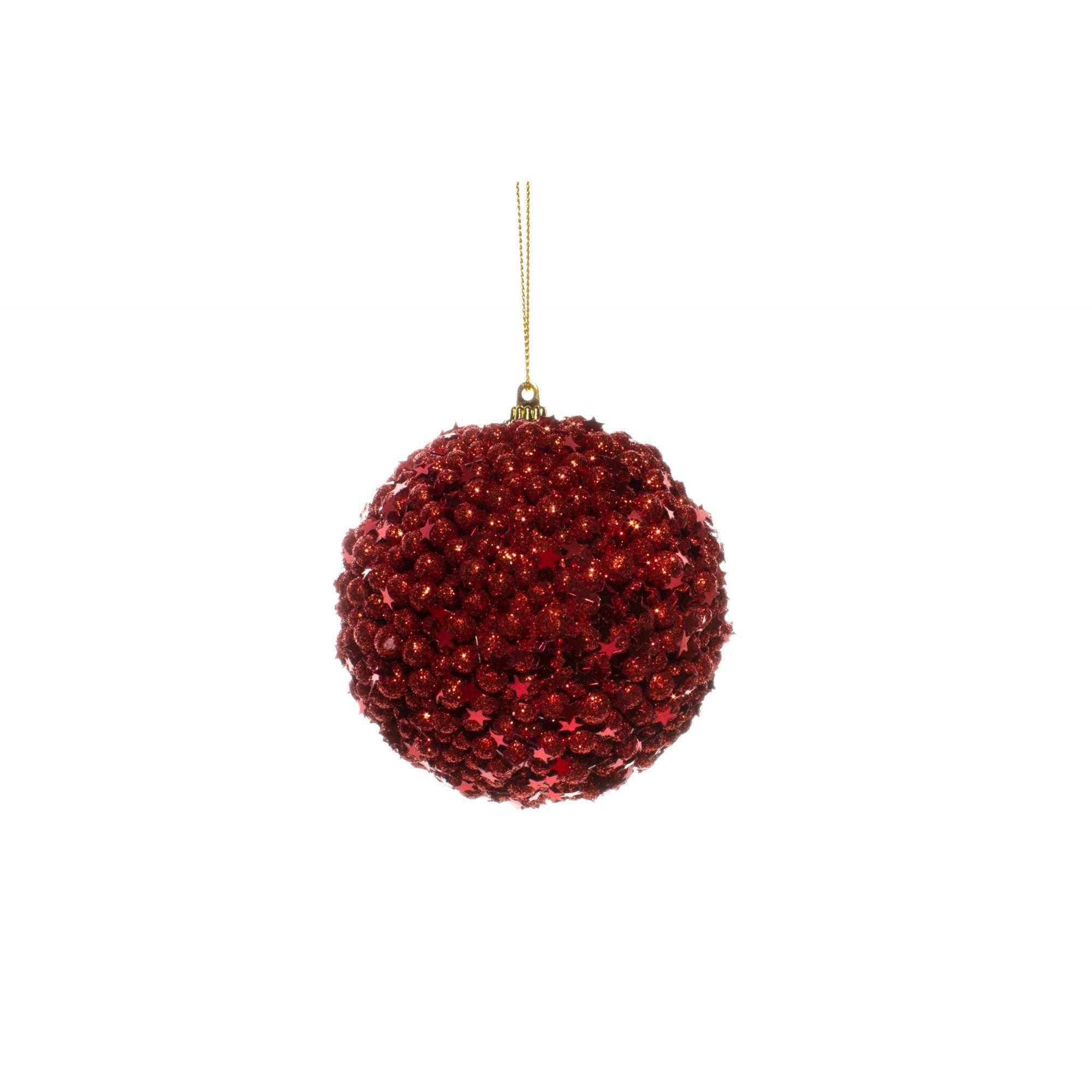 Bola De Natalina Vermelha - 1 Unidade