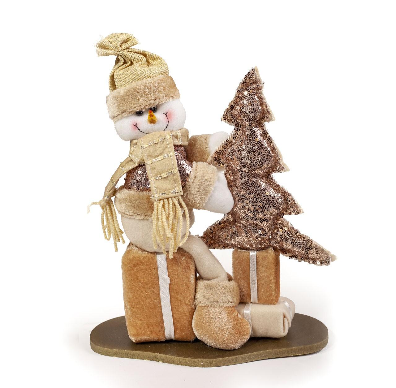 Boneco De Neve Decorativo Com Árvore