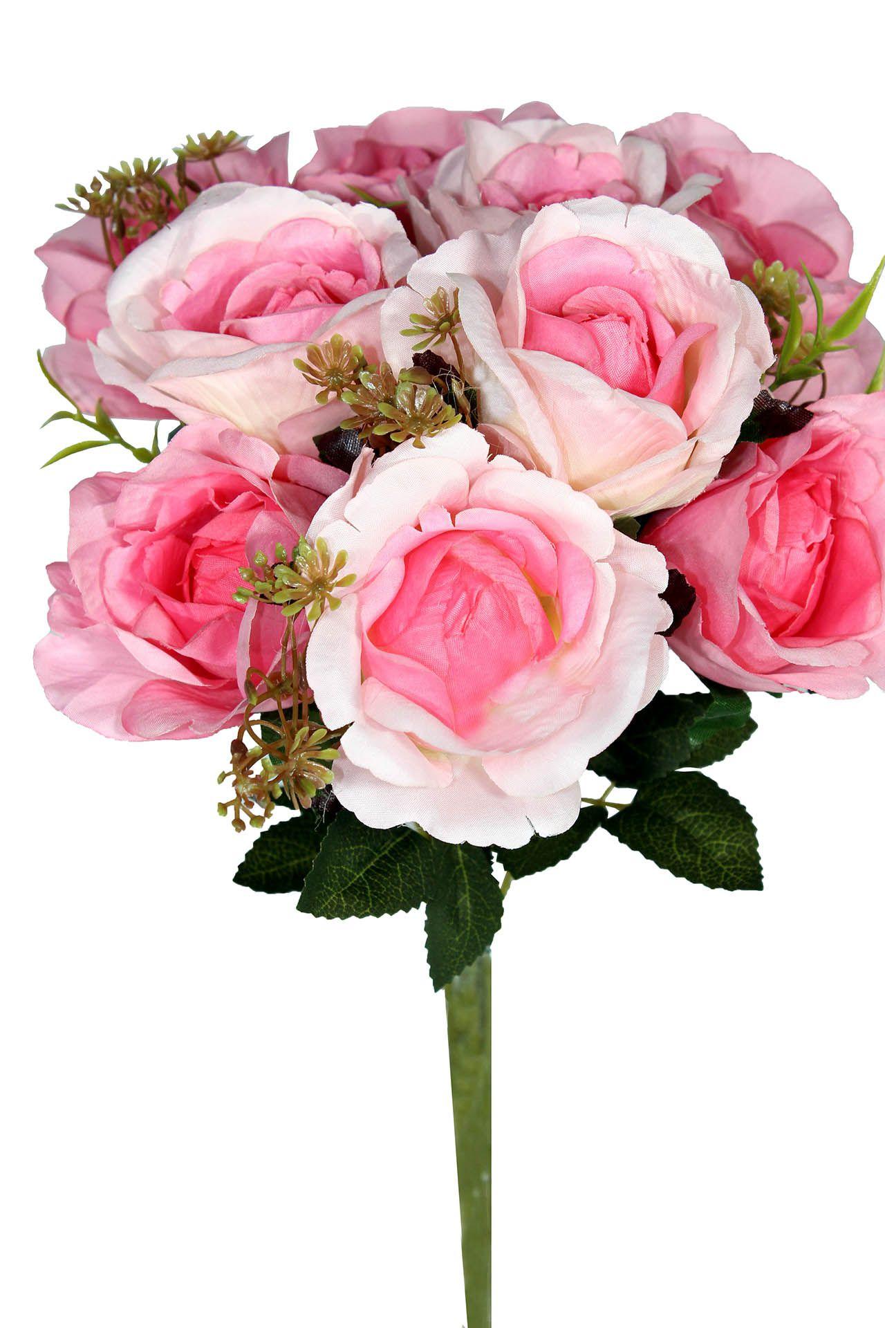 Buquê de rosa - X9 - 37cm Altura