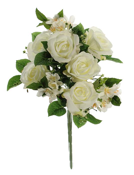 Buque De Rosas C/ Margarida X9 - 40Cm