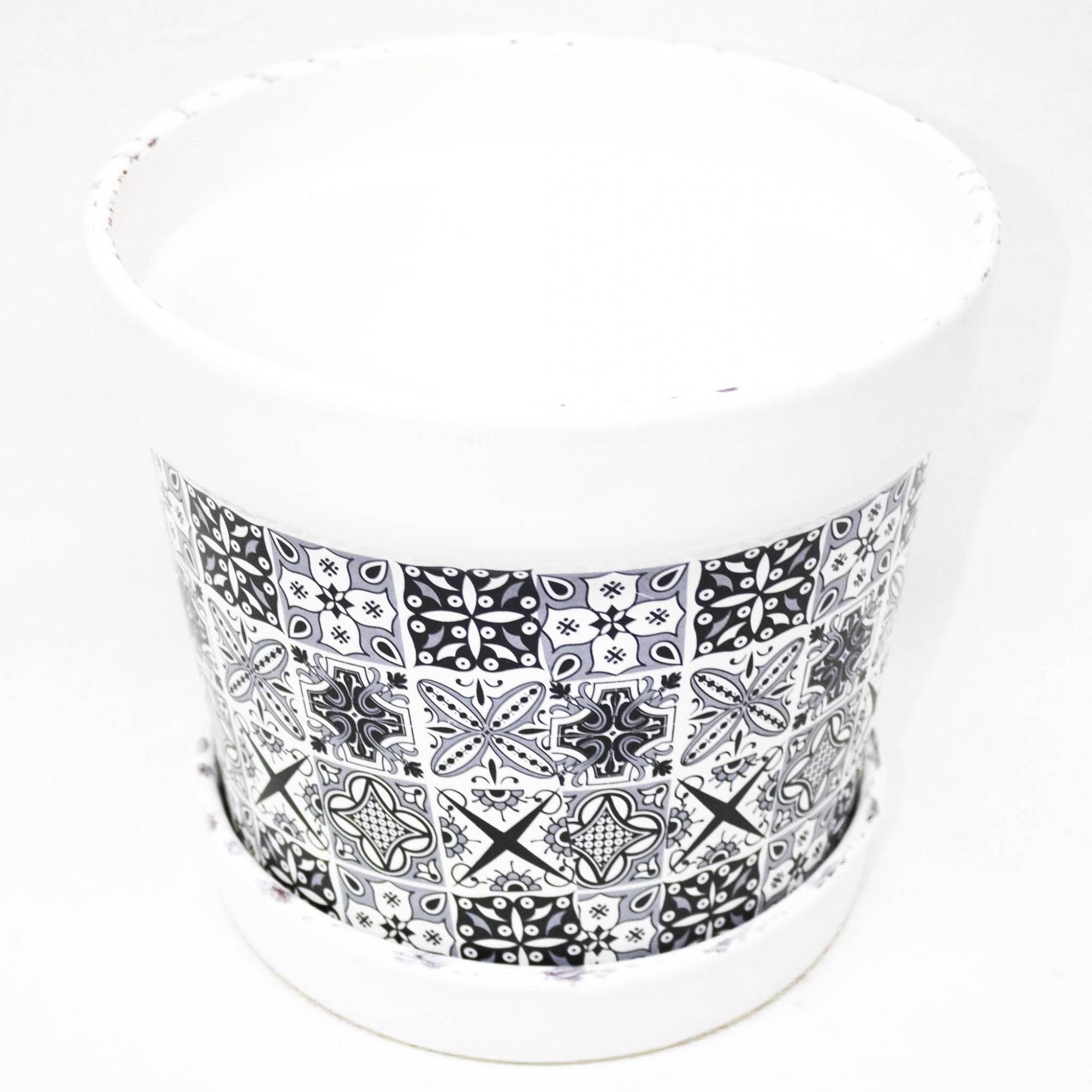 Cachepô Redondo C/ Borda - Cerâmica