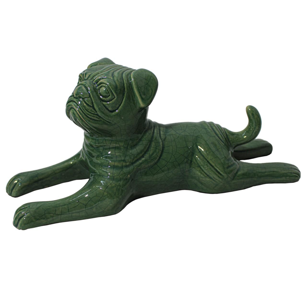 Cachorro Deitado Verde Folha