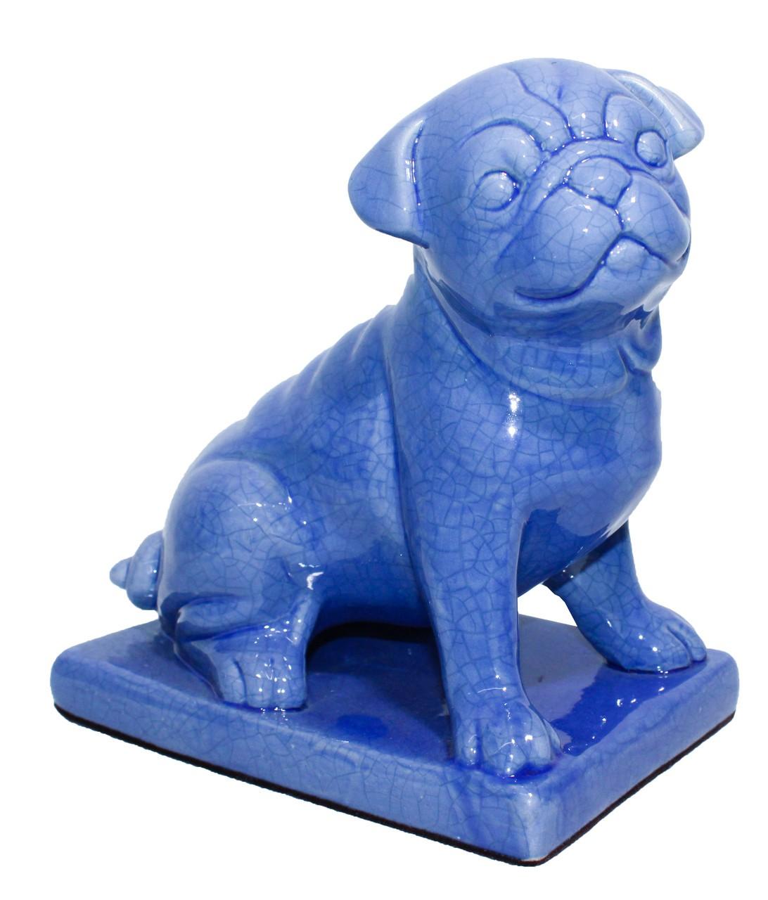 Cachorro Sentado Azul Jeans