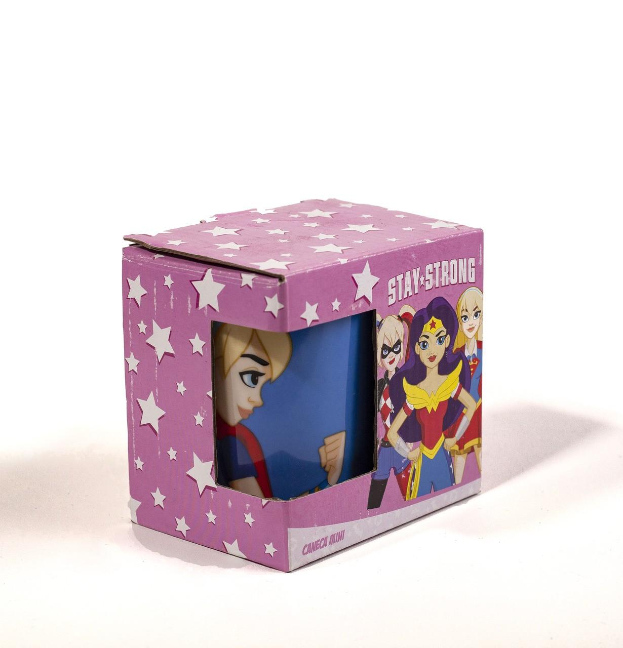Caneca Porcelana Wb Hg Super Girl 140 Ml - Unidade
