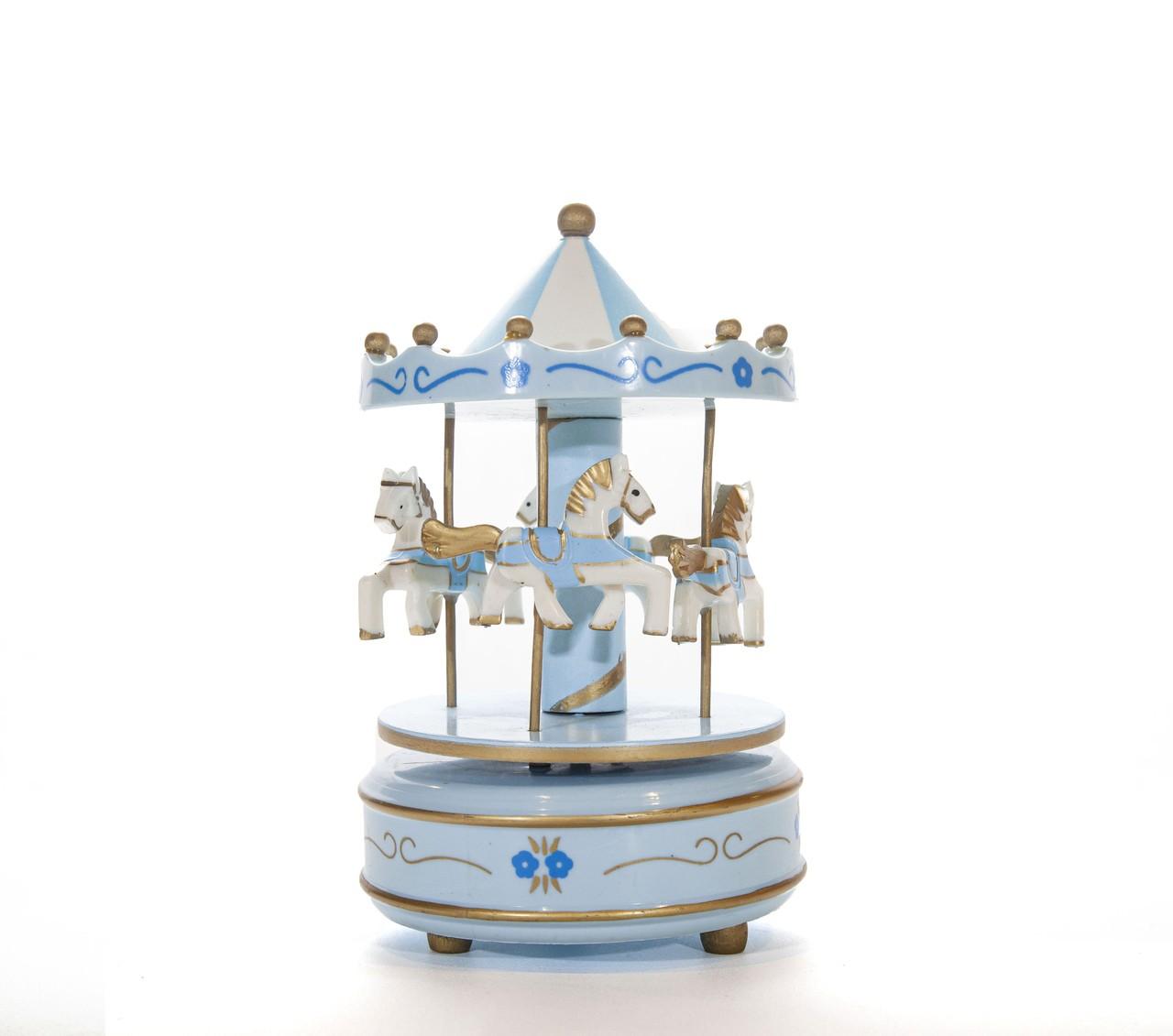 Carrousel Musical Azul - 19 Cm