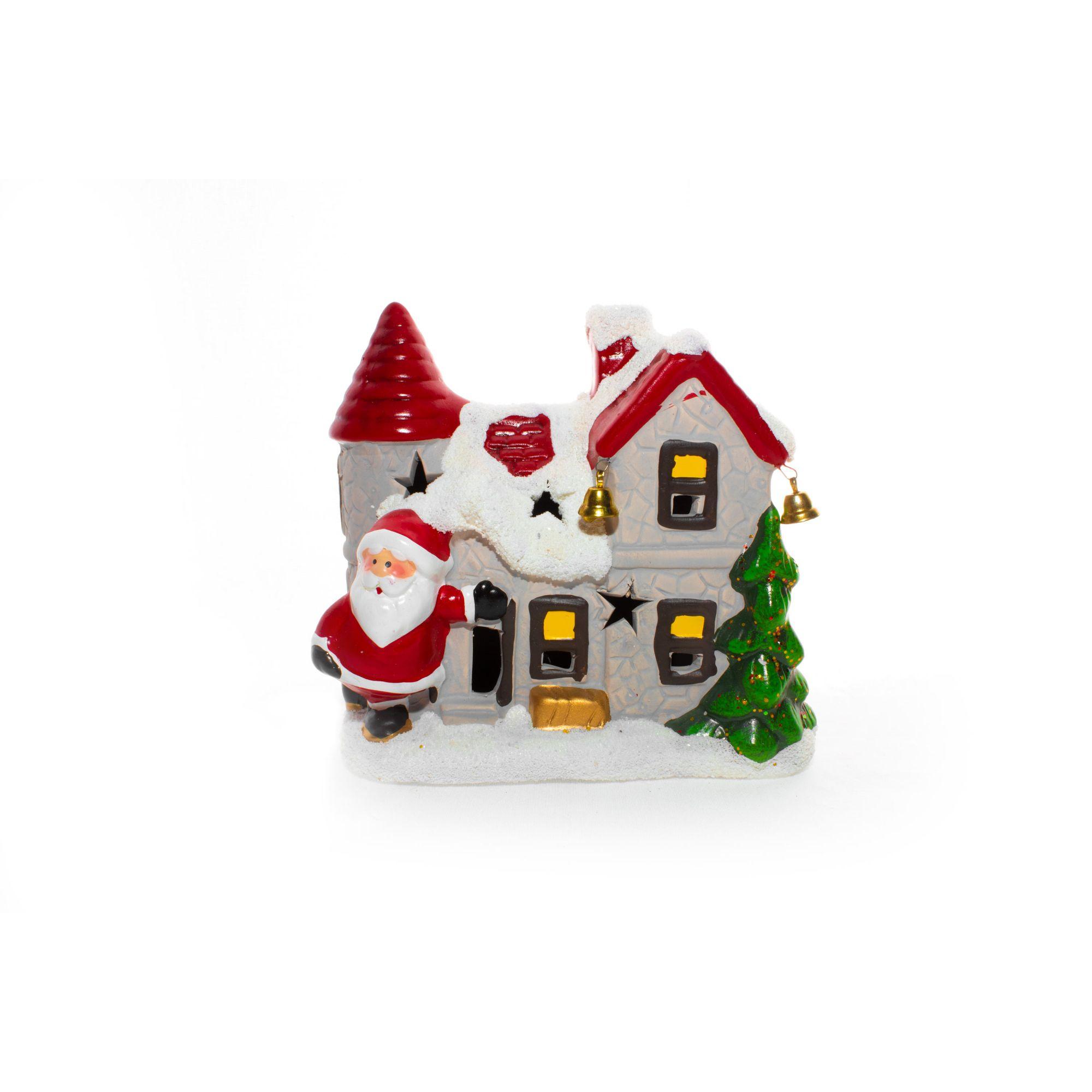 Casa Natalina Nevada Do Papai Noel