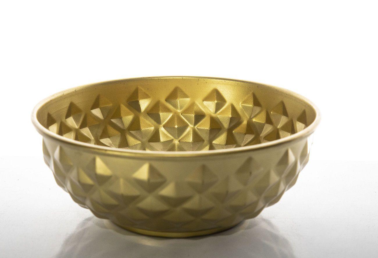 Centro De Mesa Decor Metal 8 X 21 X 21Cm Dourado
