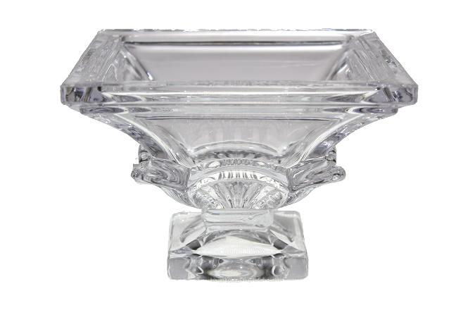 Centro de Mesa Cristal Quadrado - 11cm Altura  X 15cm Boca