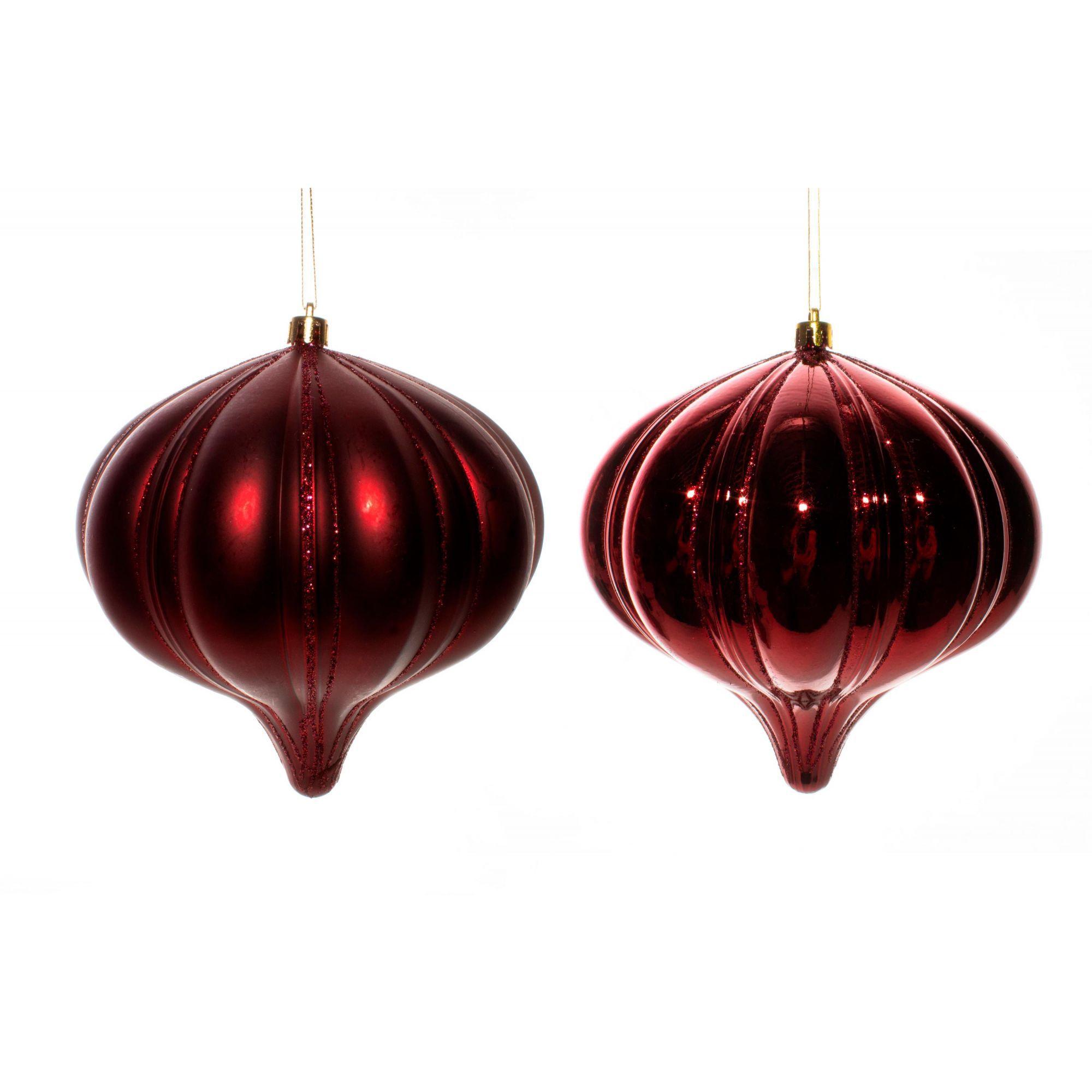 Conjunto Bolas Natalinas pião vermelho G